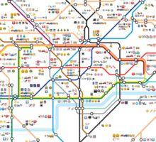 London Underground Tube Map as Emojis Sticker