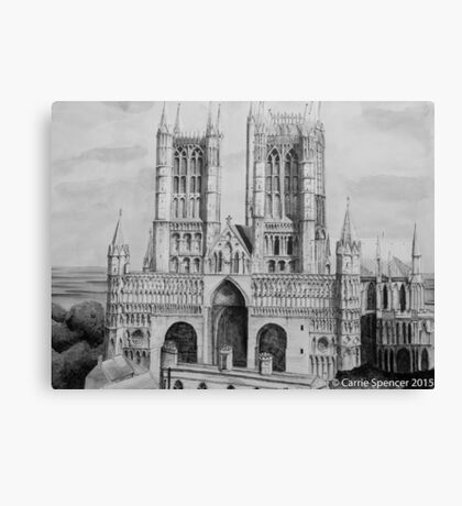 Lincoln Cathedral Pen and Ink Canvas Print