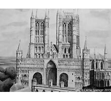 Lincoln Cathedral Pen and Ink Photographic Print