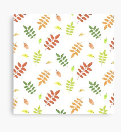 Autumn Christmas Pattern Canvas Print