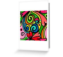 Psychedelic Love Abstract Greeting Card