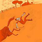 der ungückliche Reiter by Theo Kerp
