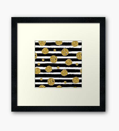Christmas Gold Pattern Framed Print