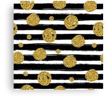 Christmas Gold Pattern Canvas Print