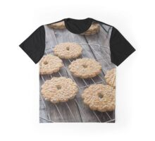 Freshly baked coconut cookies on rustic background Graphic T-Shirt