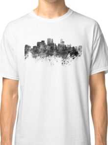 Minneapolis skyline in black watercolor on white background Classic T-Shirt