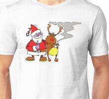 Santa Claus with reindeer Unisex T-Shirt