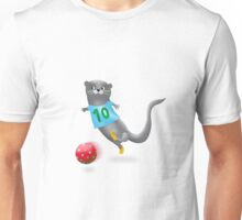 Otter spielt Fußball Unisex T-Shirt