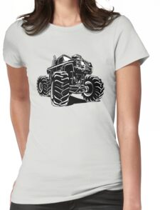 Cartoon Monster Truck Womens Fitted T-Shirt