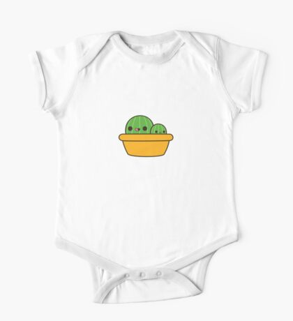 Cute cactus in yellow pot One Piece - Short Sleeve