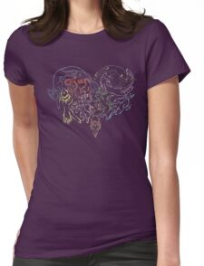 Tribal Eeveeloutions heart Womens Fitted T-Shirt