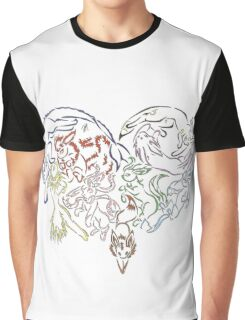 Tribal Eeveeloutions heart Graphic T-Shirt