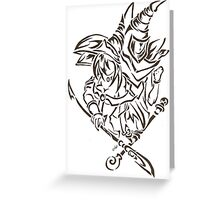 Tribal Dark Magician Dark Magician Girl Greeting Card