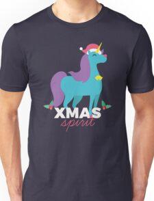 Unicorn With Xmas Spirit - Santa Unicorn Merry Christmas Unisex T-Shirt