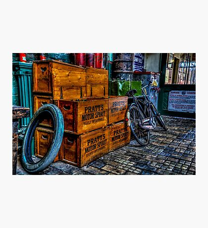 Pratts Motor Spirit Crates Photographic Print