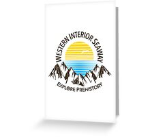 Western Interior Seaway Greeting Card