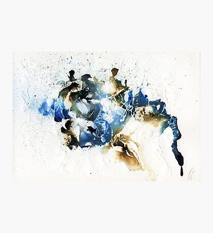 Blue and brown abstract Photographic Print