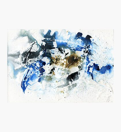 brown and blue abstract Photographic Print