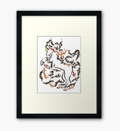 Tribal #078 fire Framed Print