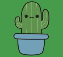 Cute cactus in blue pot Baby Tee