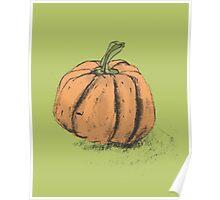 Halloween Pumpkin Illustrated Poster