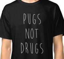 Pugs Not Drugs Black Classic T-Shirt