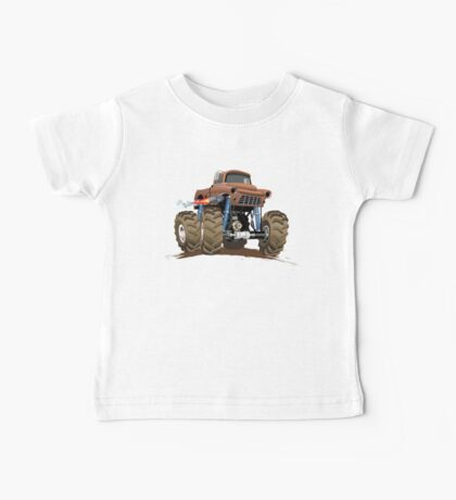 Cartoon Monster Truck Baby Tee