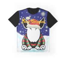 English Bull Terrier Christmas Card Graphic T-Shirt