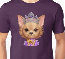 Chihuahua in the Guise of a Beauty Queen Unisex T-Shirt