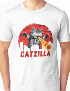 Catzilla Funny Godzilla Cat Unisex T-Shirt