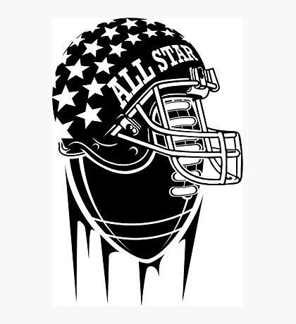 American Football Allstar Helmet Photographic Print