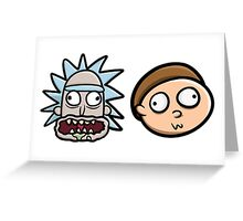 Rick and Morty Derp Faces - Pesty Edition Greeting Card