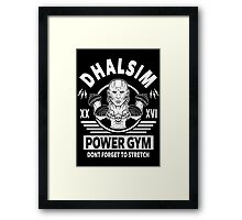 Street Fighter, Dhalsim Power Gym Framed Print