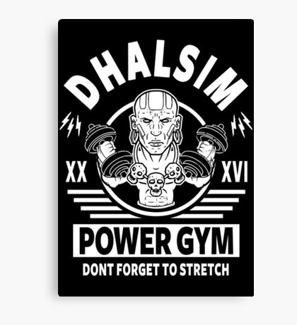 Street Fighter, Dhalsim Power Gym Canvas Print