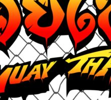 Muay Thai Street Fighter  Sticker