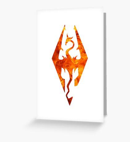 Skyrim in flames Greeting Card