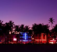 South Beach Neon Lights by brightspace