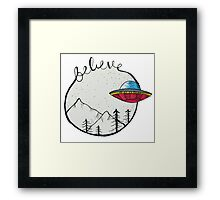 I Want To Believe X Files Framed Print