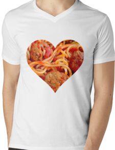 Spaghetti Life Mens V-Neck T-Shirt