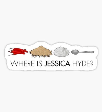 Utopia - where is Jessica Hyde? Sticker