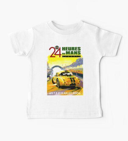 DU MANS; Vintage Auto Racing Advertising Print Baby Tee