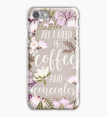 Coffee & Concealer – Spring Palette iPhone Case/Skin