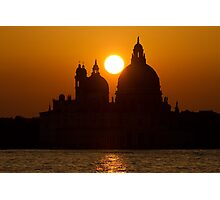 sunset in venice Photographic Print