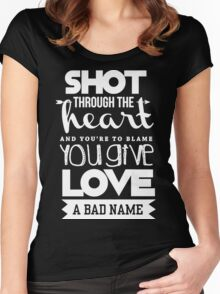 Shoot through the heart Women's Fitted Scoop T-Shirt