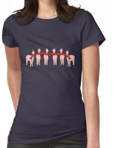 Happy Alpaca Christmas! Womens Fitted T-Shirt