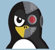 Cyborg Penguin Artwork for Blackhats and Geniuses One Piece - Short Sleeve