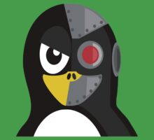 Cyborg Penguin Artwork for Blackhats and Geniuses One Piece - Short Sleeve