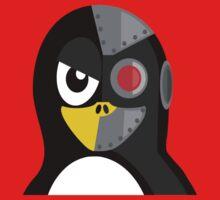 Cyborg Penguin Artwork for Blackhats and Geniuses Kids Tee