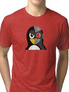 Cyborg Penguin Artwork for Blackhats and Geniuses Tri-blend T-Shirt