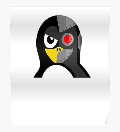 Cyborg Penguin Artwork for Blackhats and Geniuses Poster